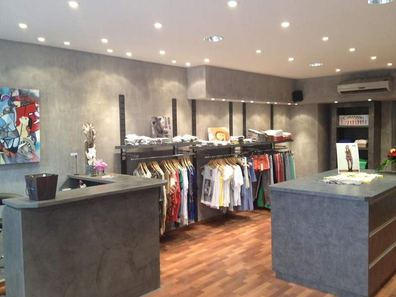 table beton par stuc co comptoir magasin lily rose. Black Bedroom Furniture Sets. Home Design Ideas