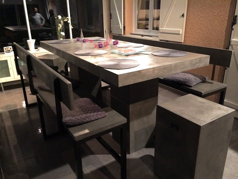 table beton par stuc co tables hauteur bar. Black Bedroom Furniture Sets. Home Design Ideas