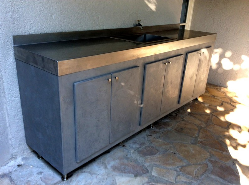 Table Beton Par Stuc Co Meuble Cuisine D 39 Ete