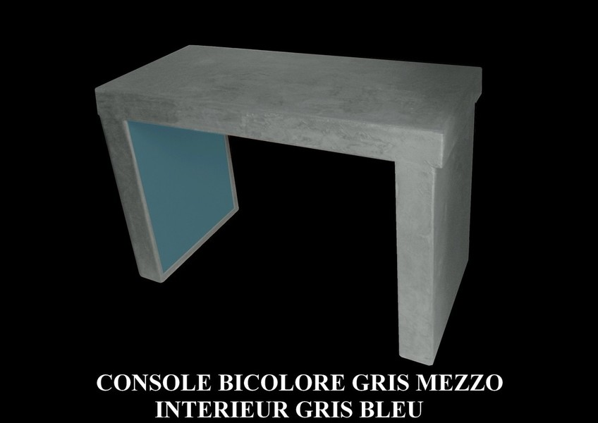 table beton par stuc co tarifs console bicolore. Black Bedroom Furniture Sets. Home Design Ideas