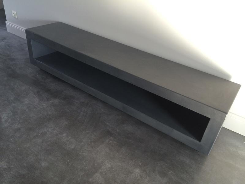 Table Beton Cire Com Par Stuc Co Meubles Tv Beton Cire