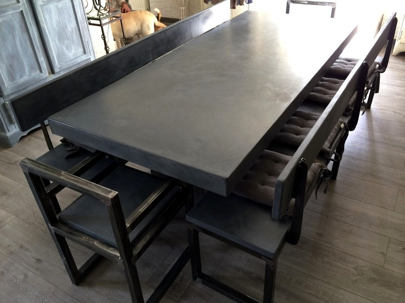 table beton par stuc co tables a diner b ton cire. Black Bedroom Furniture Sets. Home Design Ideas