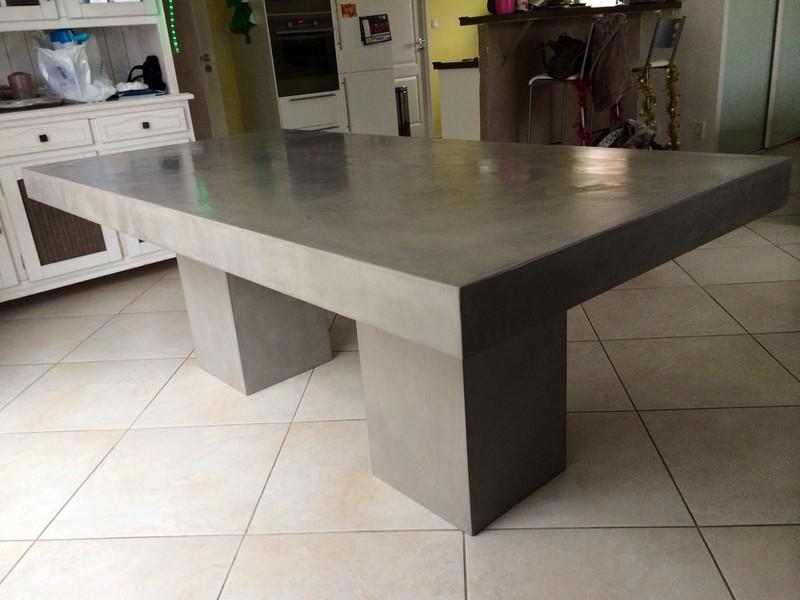 tables diner en bton cir par stucco valence - Table Salle A Manger Beton Cire
