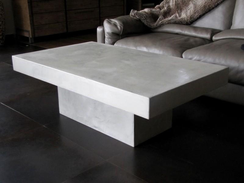 table basse en beton cire