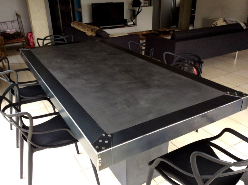 betonle des table site en sur béton ciré tables Lc35qARj4