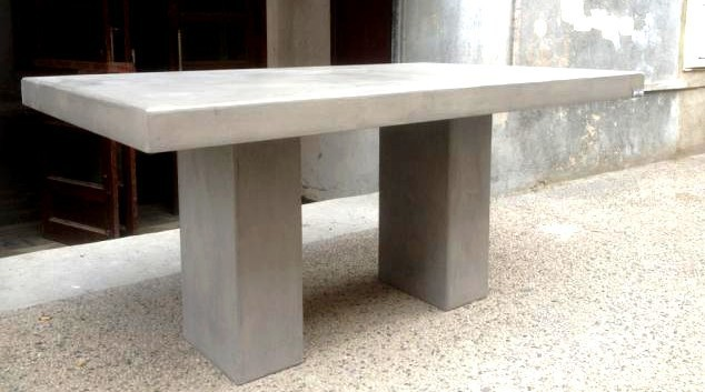 Beautiful Table Jardin Resine Imitation Beton Contemporary ...