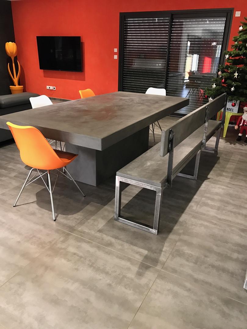 Meuble En Béton Ciré table-beton-cire : le site des tables en béton ciré sur